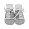 meias chuteiras fun socks com cadarco cinza baby socks 2