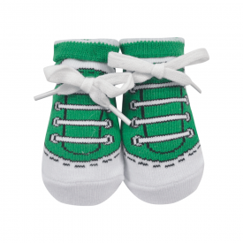 meias chuteiras fun socks com cadarco verde baby socks 2