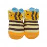 meias fun socks com orelinhas de abelinha amarelo baby socks 2
