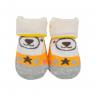 meias fun socks com orelinhas de urso laranja baby socks 2