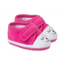 tenis bebe feminino com rostinho pink keto baby