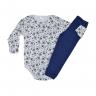 conjunto infantil body e calca de suedine dog marinho c canaa