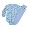 conjunto infantil body e calca de suedine tigre azul c canaa