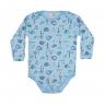 body infantil de suedine tigre azul c canaa