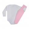conjunto infantil body e calca de suedine pontinho rosa c canaa