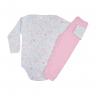 conjunto infantil body e calca de suedine coelho rosa c canaa