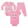kit body bebe 3 pecas pagao donuts rosa vestir com amor