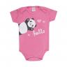 body bebe manga curta pagao panda chiclete vestir com amor