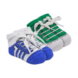 kit 2 meias chuteiras baby socks masculino royal e verde baby socks
