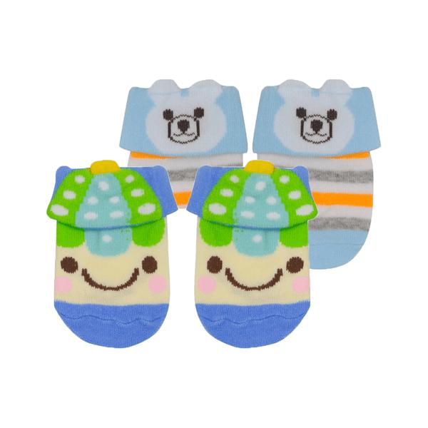 kit 2 meias baby socks masculino royal e azul baby socks