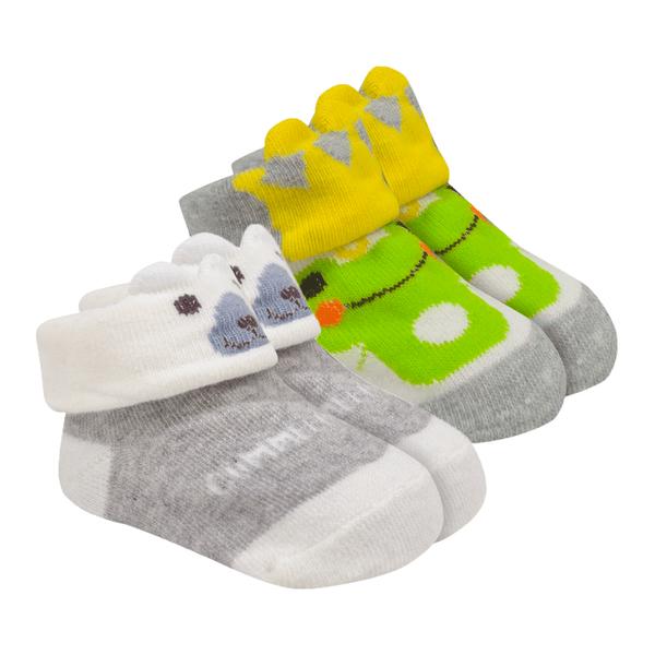 kit 2 meias baby socks unissex mescla baby socks