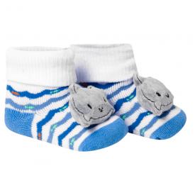 meias fun socks com pelucia de baleia azul winston