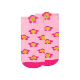 meias fun socks com orelhinhas flor rosa e pink winston