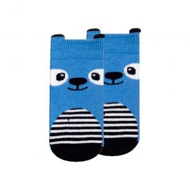 meias fun socks com orelhinhas urso royal e marinho winston
