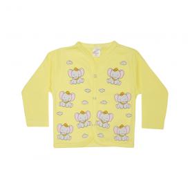 cardiga bebe 2 pecas elefante amarelo lmol baby