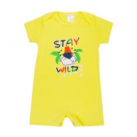 banho de sol bebe stay wild amarelo lmol baby