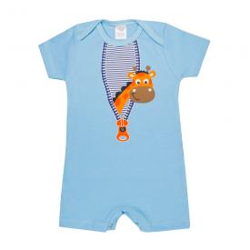 banho de sol bebe girafa azul lmol baby